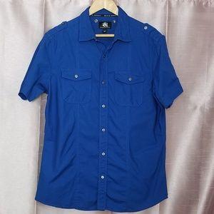 Rock & Republic Short Sleeve Button Down Shirt L